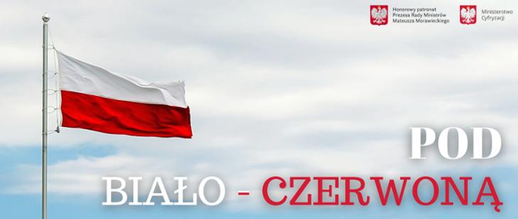 Plakat promujący projekt pod biało- czerwoną